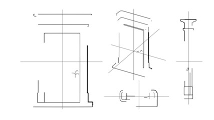 Door Technical Drawing Time Lapse