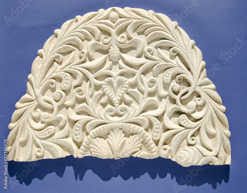 Leinwandbild Motiv retro and grunge gypsum tracery fragment