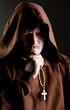 Monk in shadow