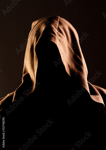 Mystery unrecognizable monk