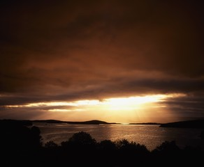 Co Cork, Bantry Bay At Sunset, Ireland