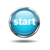 Boton futurista texto start poster