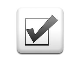 Boton cuadrado blanco simbolo probado