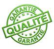 """Cachet """" Garantie Qualité"""" (vert)"""