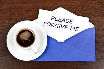 Forgive me message