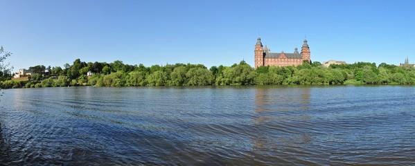 Johannisburg Castle on the Main river in Aschaffenburg