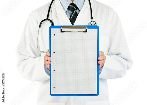 doctor with graph paper