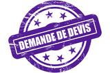 Sternen Stempel lila DEMANDE DE DEVIS poster