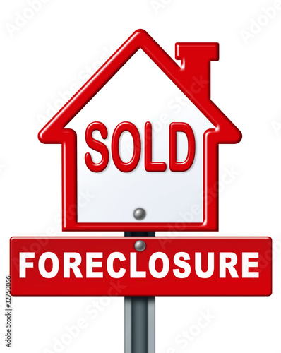 Foreclosure sold sign