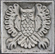 bas-relief of fairytale owl