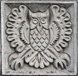 bas-relief of fairytale owl poster