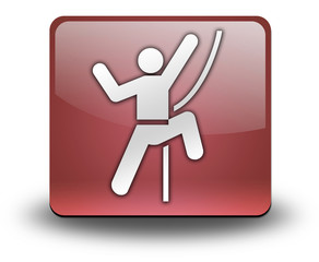 """Red 3D Effect Icon """"Rock Climbing"""""""