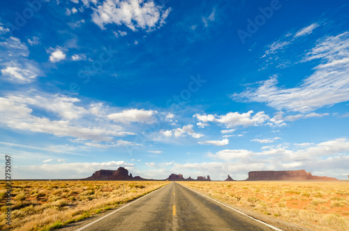 Poster Road in the Monument Valley National Park, Utah, USA