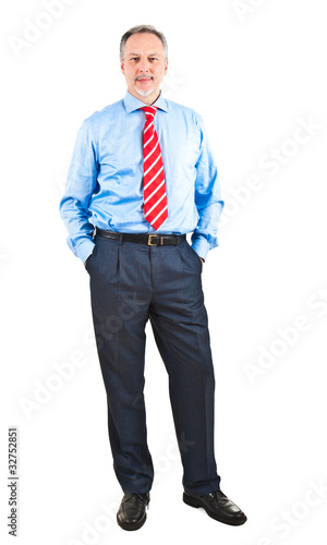 Full lenght image of a senior businessman