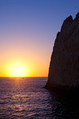 Sun Setting on the Horizon at Land's End, Mexico