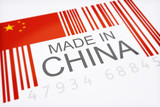 Product bar code symbolizing the  imported goods from China