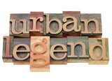 urban legend in wood letterpress type poster