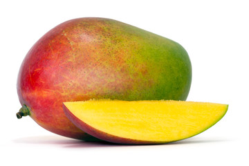 mango with clipping path over white background