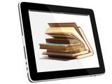 Books on iPad 3D concept