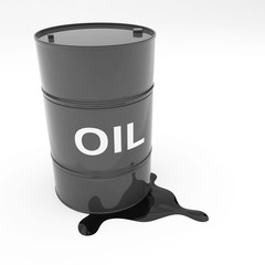Steel 55 Gallon Oil Drum leaking