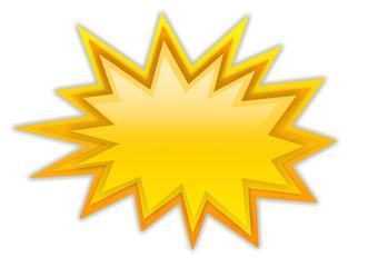 Boom splash star isolated on white