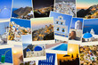 Stack of Santorini photos