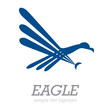 Logo simple eagle # Vector