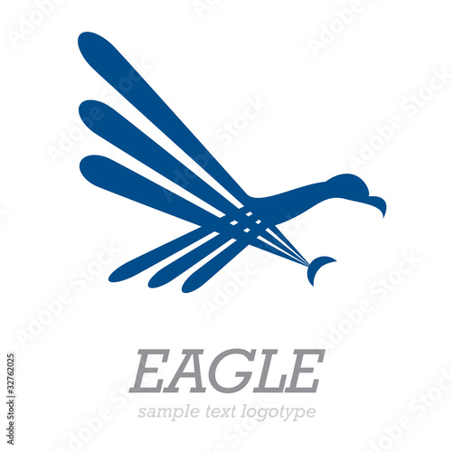 Logo simple eagle # Vector de puckillustrations, vector ...