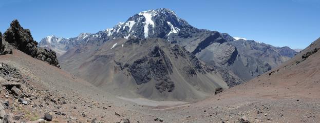 Il massiccio dell'Aconcagua nelle ande argentine