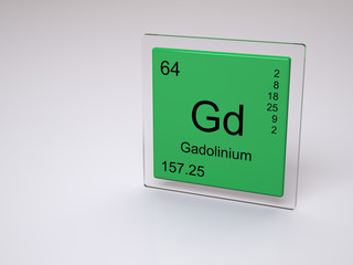Gadolinium - symbol Gd - chemical element of the periodic table