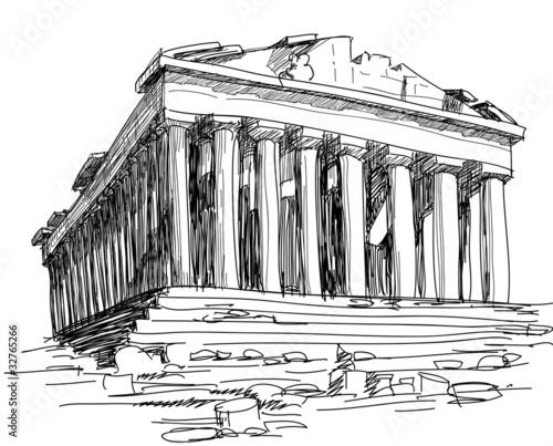Greece Parthenon sketch - 32765266