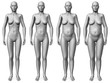 female morph - skinny to fat