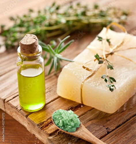 Piece of natural soap.