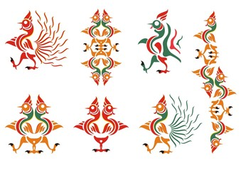 Stylization of a cock. A cock pattern