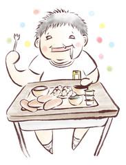 給食と太った子供