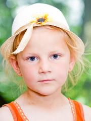 Beautiful laughing little girl portrait
