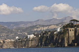 Sorrento Bay scenic view, Italy poster