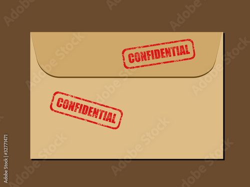 Confidential - top secret documents envelope