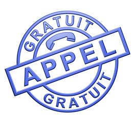 """Appel Gratuit"" (bleu)"