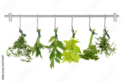 Obraz na Szkle Herb Leaves Drying