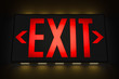 Emergency Exit Sign in the Dark