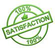"""""""100% Satisfaction"""" (vert)"""