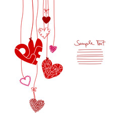 Red Hanging Hearts