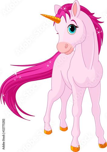 Fotobehang Pony Baby unicorn