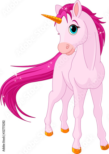 Keuken foto achterwand Pony Baby unicorn