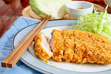 "Japanese deep fried pork ""Tonkatsu"""