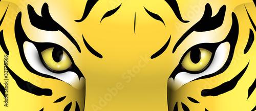 Augen eines Tigers