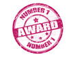 number one award stamp