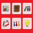 stamps collection - business set