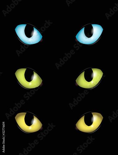Katzenaugen in verschiedenen Farben